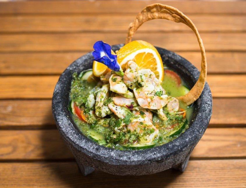 Shrimp aguachile