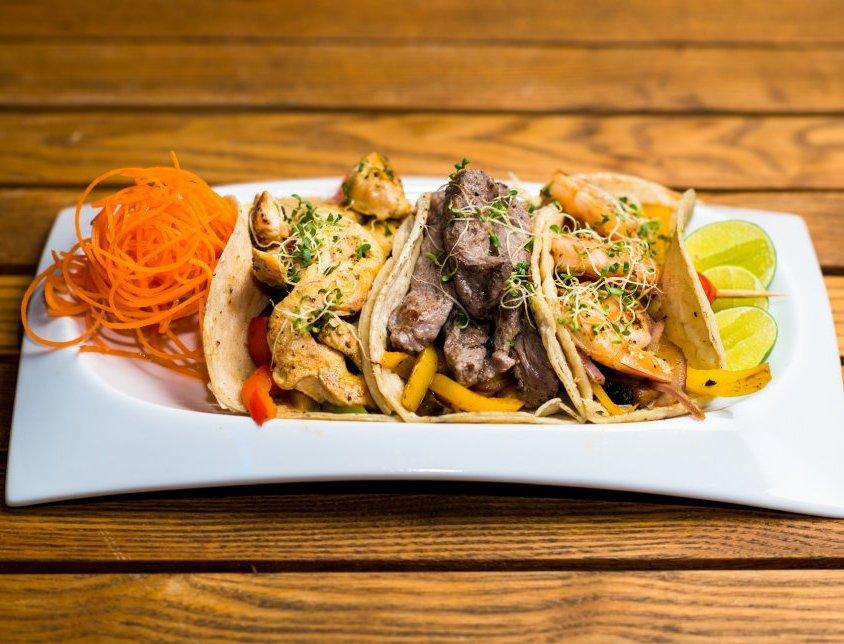 Beef & chicken Tacos
